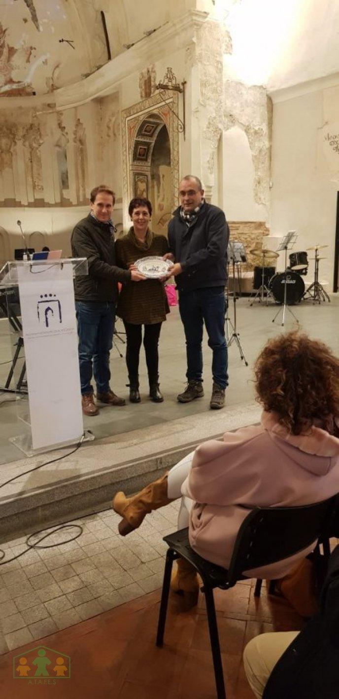 ATAFES salud Mental Talavera recibe reconocimeinto a belen navideño