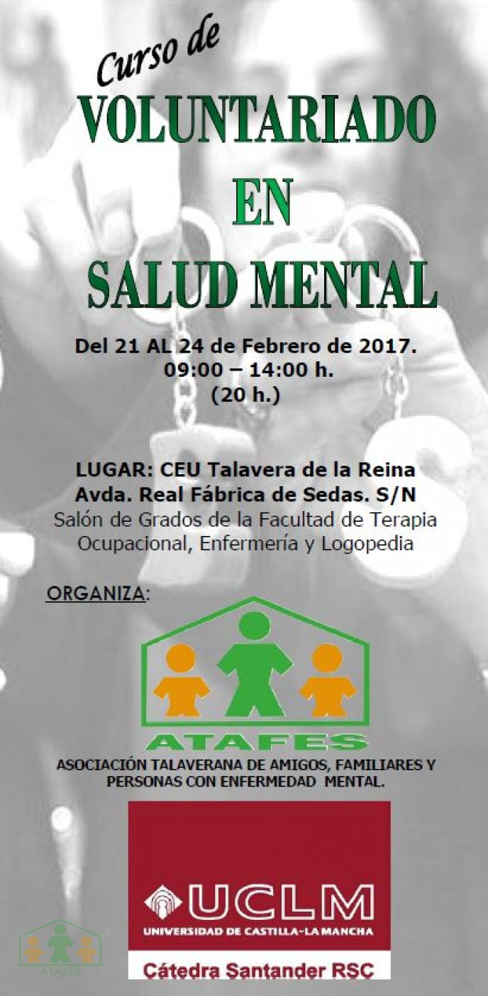 Curso Voluntariado en Salud Mental 2017