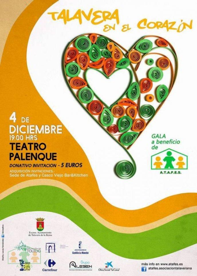 """Gala benéfica """"Talavera en el corazón"""" a beneficio de ATAFES"""