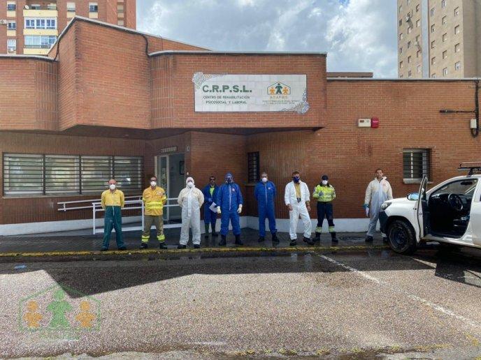 GRACIAS A INFOCAM Y AYTO DE TALAVERA; DESINFECCION DEL CRPSL DE ATAFES