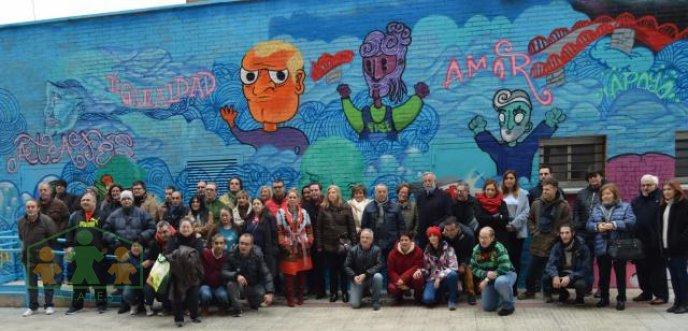 """ATAFES Talavera inaugura un mural """"por la integración"""""""