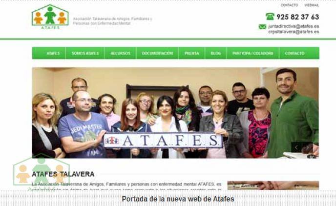 Atafes Talavera lanza al mundo su nueva página web