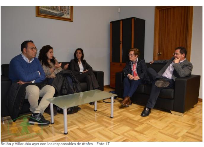 Diputación y Atafes buscan unidos cauces de colaboración