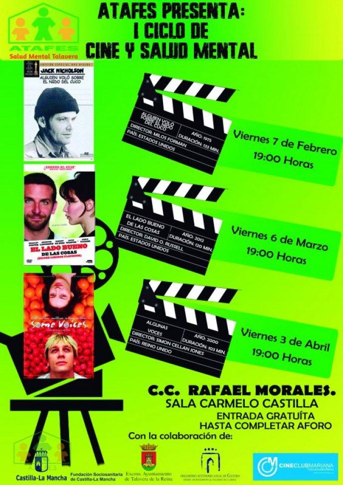 """I Ciclo de """"Cine y Salud Mental"""" ATAFES Talavera"""